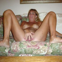 Fully Nude On A Couch - Spread Legs