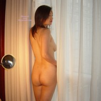 Oriental Woman Ass Shot By Curtains - Naked Girl, Nude Amateur