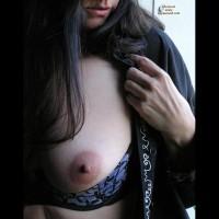 Tit Closeup - Dark Hair, Huge Tits, Long Hair