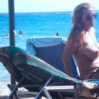 Greek Huge Boobs @ Mykonos Island
