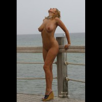 Boardwalk On Water - Heels, Nude Outdoors