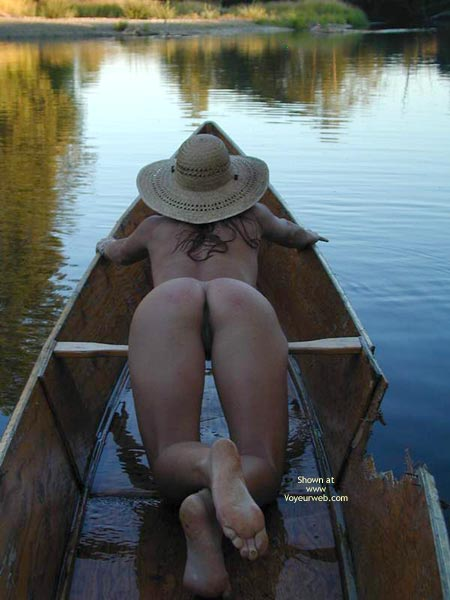 Pic #1 - Ass And Pussy - Bend Over , Ass And Pussy, Bent Over, In A Boat, Straw Hat
