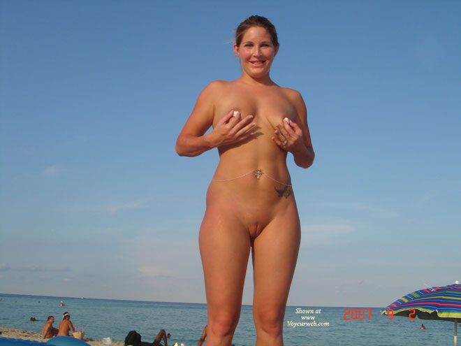 Nudity at the beach and shaved
