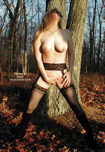 Pic #1 - Sheila Shows Off in The Woods