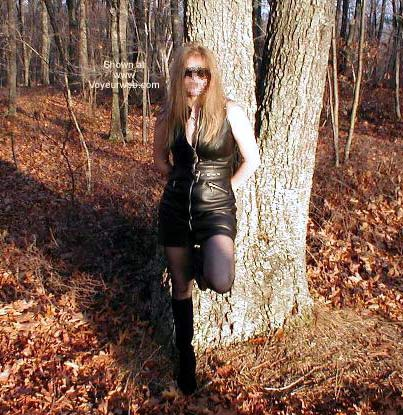 Pic #2 - Sheila Shows Off in The Woods