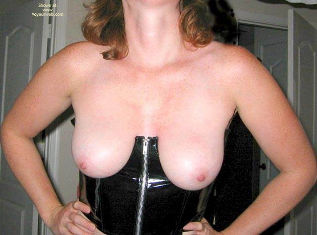 Pic #1 - Natural Breasts In Leather