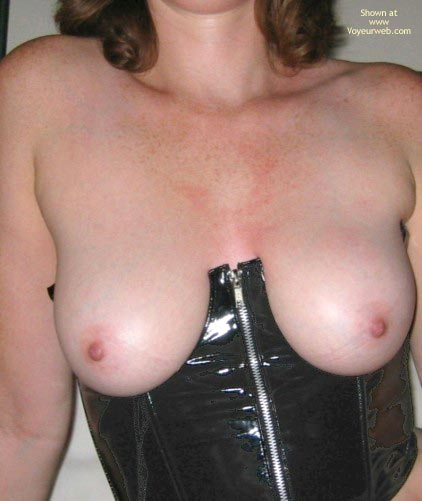 Pic #2 - Natural Breasts In Leather