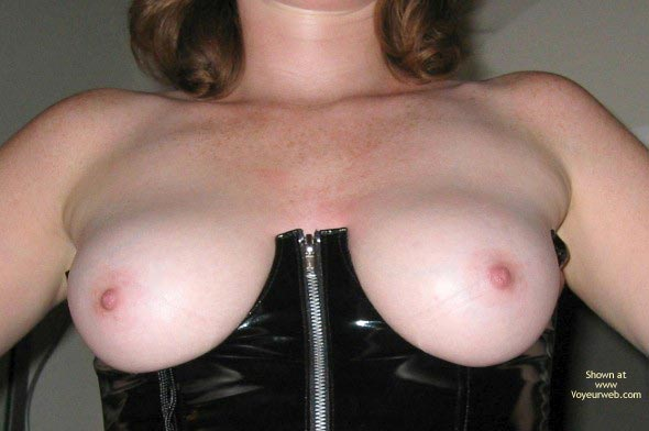 Pic #3 - Natural Breasts In Leather