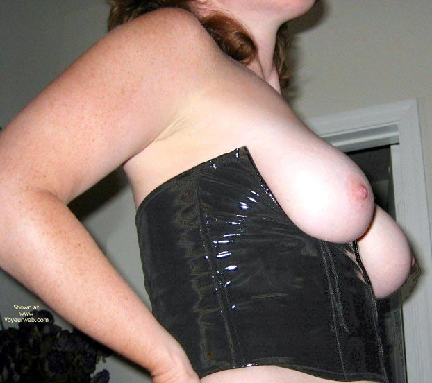 Pic #4 - Natural Breasts In Leather