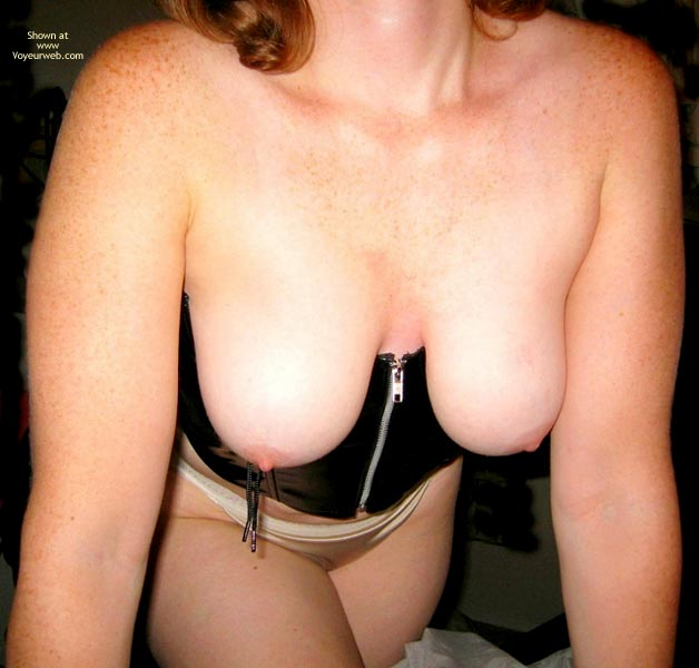 Pic #5 - Natural Breasts In Leather