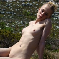 Reclining Nude In The Field - Nude Outdoors, Naked Girl, Nude Amateur