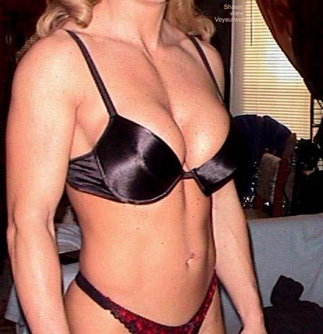Pic #1 - She's Hot Flexing in Lingerie