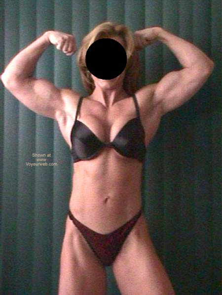 Pic #2 - She's Hot Flexing in Lingerie