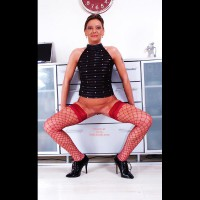 Susy Rocks Stockings, High Heels And Pussy