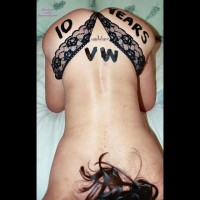 Body Painting Sign On Ass For Voyeurweb 10th Anniversary - Brunette Hair