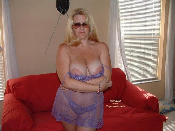 Pic #2 - Mrs. Boobman'S Purple Lingerie