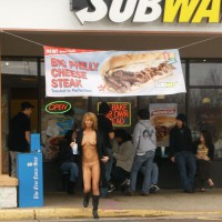 Flashing At A Subway - Flashing, Nude In Public, Shaved Pussy, Tan Lines, Naked Girl, Nude Amateur