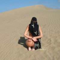 Nude Girl Bound On Dune - Bondage, Naked Girl, Nude Amateur