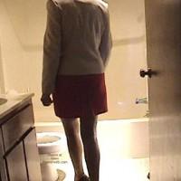 Kate In Bathroom
