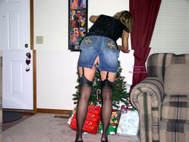 Pic #1 - Jill's Christmas , I Got Ready To Put My Tree Up, And Realized How Hot It Was In The House!  I Figured Out How To Take Care Of That!  But For Some Reason, After A Short While, It Got Even Hotter!  Must Be The Nylons!!??