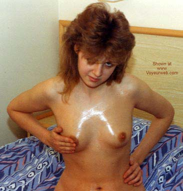 Pic #3 - Ex UK GF with Baby Oil