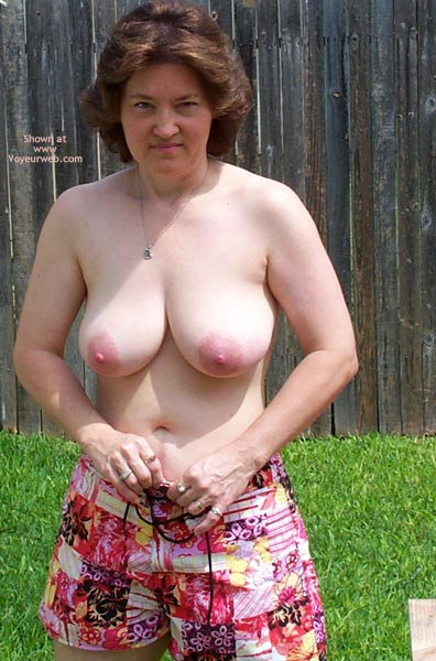 Pic #1 - Frisky Wife In Backyard