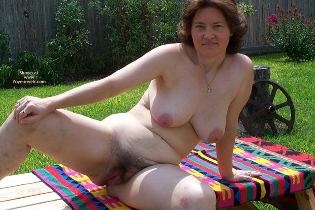 Pic #3 - Frisky Wife In Backyard