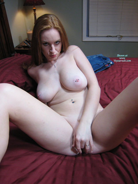 Pic #1 - MILF Fingering Pussy - Big Tits, Large Breasts, Milf, Natural Tits, Pierced Nipples , Girl On Crimson Bed Sheets, Large Natural Breasts, Pussy Rub, Naked In The Bedroom, Lots Of Piercings, Pussy With Fingers