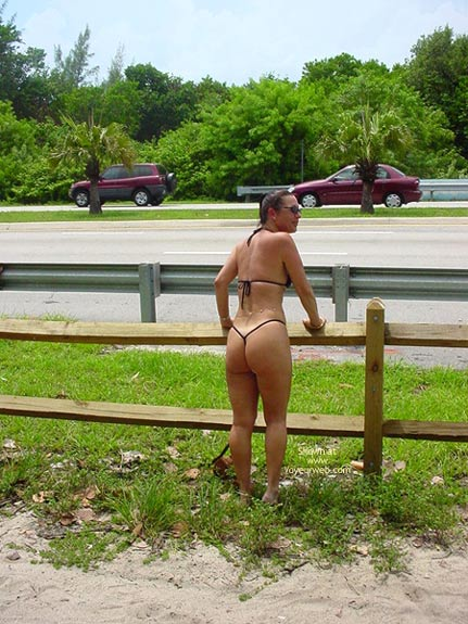 Pic #1 - Frisky  Vacation With The Thong Guy