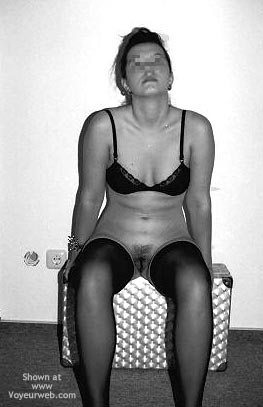 Pic #4 - Sara In Black Stockings