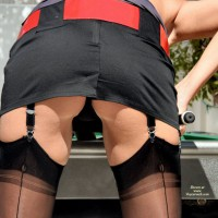 Upskirt Of Pool Player - Upskirt