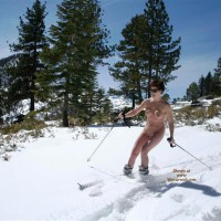 Ski Naked - Sunglasses, Naked Girl, Nude Amateur