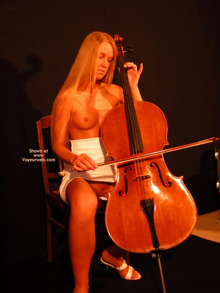 Pic #1 - Female Cello Player Plays The Solo