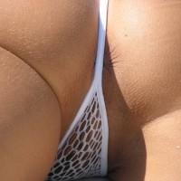 Sexy Bikini Asshole - Shaved Pussy