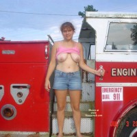 Spoiled Brat~ Sexy In Car(fire Truck)