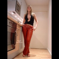 Sexy In Red Leather