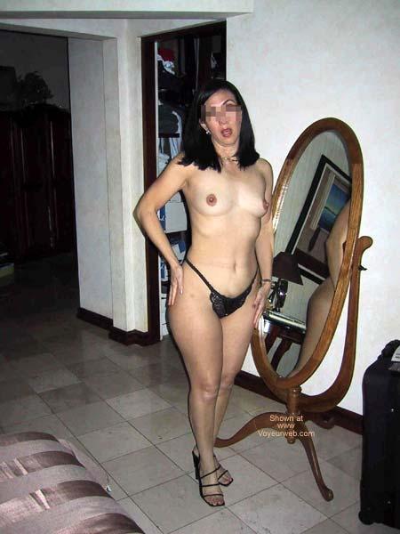 Pic #2 - A Dentist in black lingerie