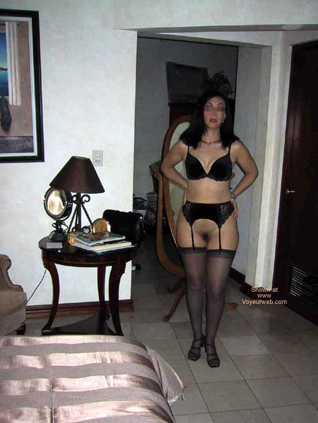 Pic #3 - A Dentist in black lingerie