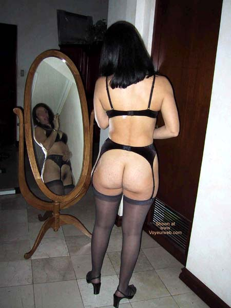 Pic #5 - A Dentist in black lingerie