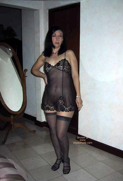 Pic #6 - A Dentist in black lingerie