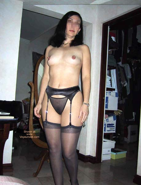 Pic #8 - A Dentist in black lingerie