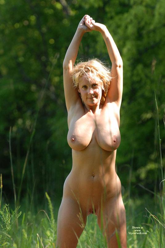 Just voyeurweb blonde outdoors assure
