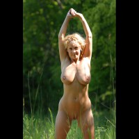 Nude Girl Outdoors - Big Tits, Blonde Hair, Huge Tits, Natural Tits, Hairless Pussy, Naked Girl, Nude Amateur