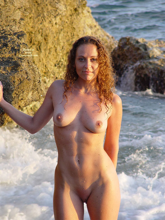 Pic #1 - Brown Curly Hair Naked In The Surf - Brown Hair, Erect Nipples, Natural Tits, Perfect Tits, Shaved Pussy, Naked Girl, Nude Amateur , Medium Natural Tits, Nude At The Beach, Seaside, Skinny Dipping, Frontal Nude, Great Abs, Outdoors Shot At The Beach, Naked On The Rocks, Beach Nude, Playa, Sculpted Body