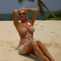Sandy Tits - Big Tits, Blonde Hair, Large Breasts, Long Hair, Long Legs , Big Round Tits, Tanned Hourglass Body, Tropical Beach Paradise Beauty, Sitting On The Beach, Sandy Tits On A Beach, Swollen Mango Breasts, Tanned With Large Tits, Hands Behind Head, Wet And Sandy