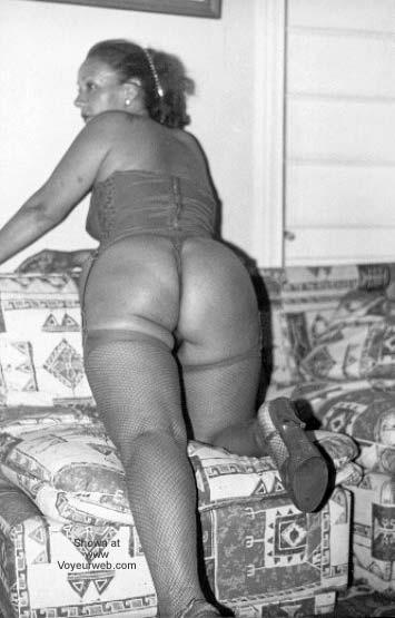 Pic #4 - My Wife in Stocking B/W I