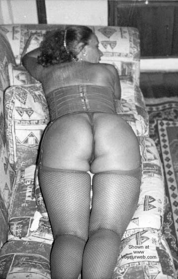 Pic #5 - My Wife in Stocking B/W I