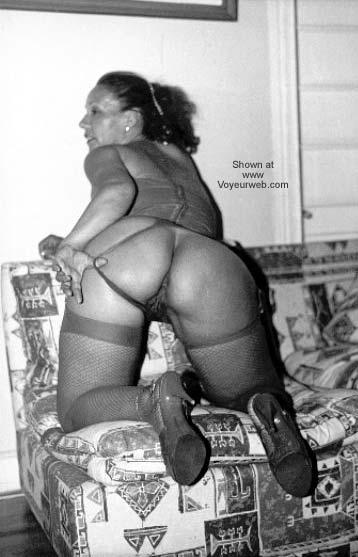 Pic #6 - My Wife in Stocking B/W I