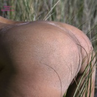 Sandy Butt And Dune Grass - Nude Amateur, Sexy Ass