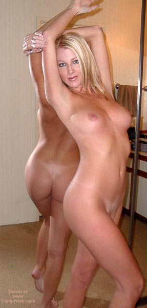 Pic #1 - Nude Blonde Standing , Nude Blonde Standing, In Front Of A Mirror, Medium Sized Tits, Mirror Image